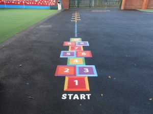 Hopscotch markings